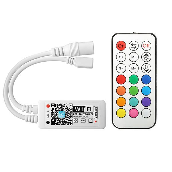 White Bluetooth LED Controller Mobile APP Control Mode For RGB LED Strip Light