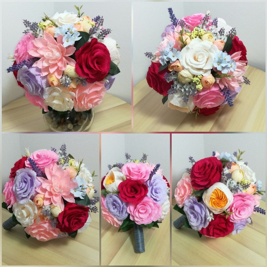 Flori din hartie creponata floristica pret