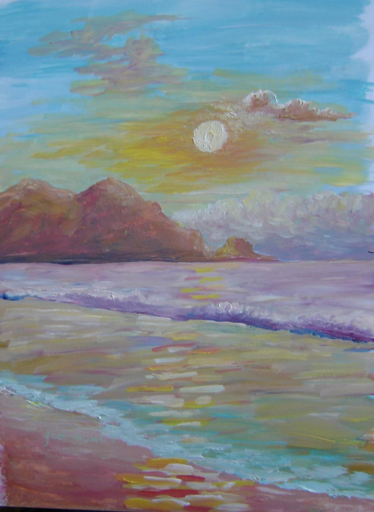 Aterdecer en la playa #fcomontespintor #queretaro #arte