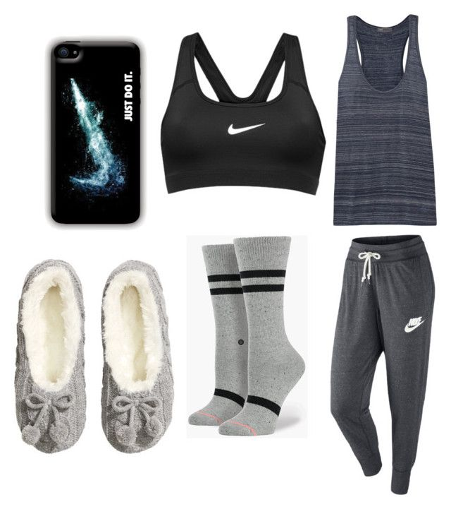 Home chilling Outfit by romanoff-lilly on Polyvore featuring polyvore, fashion, style, Vince, Stance, NIKE and H&M