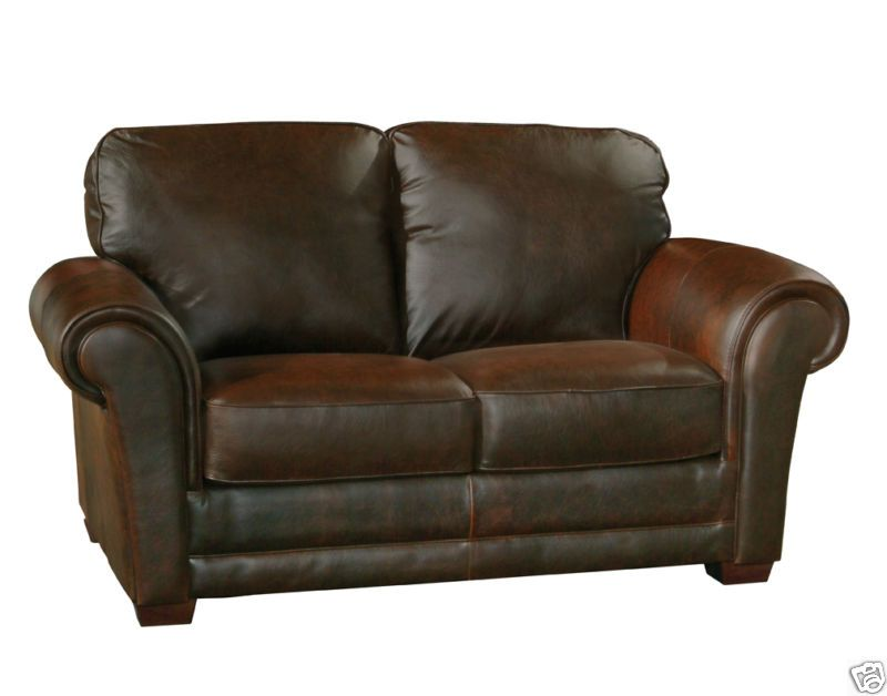 Leather Furniture : Luke Leather Italian Distressed Leather Brown