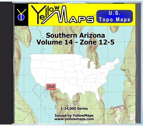YellowMaps U.S. Topo Maps Volume 14 (Zone 12-5) Southern Arizona