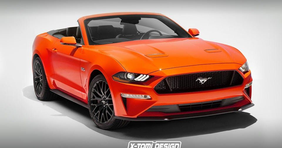 Uncovering The 2018 Ford Mustang Convertible On Photoshop