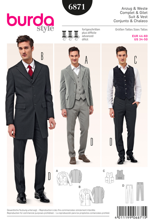 burda 6871 | Mikael | Pinterest | Sewing, Sewing patterns and Mens ...