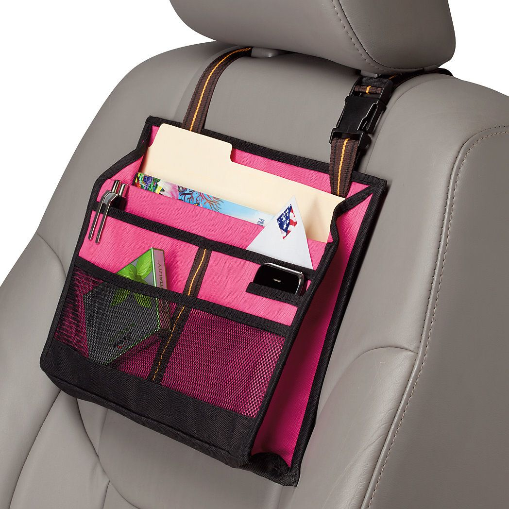 Pink Driver Organizer (This would be great, I always have a ton of random stuff all over the passenger seat)
