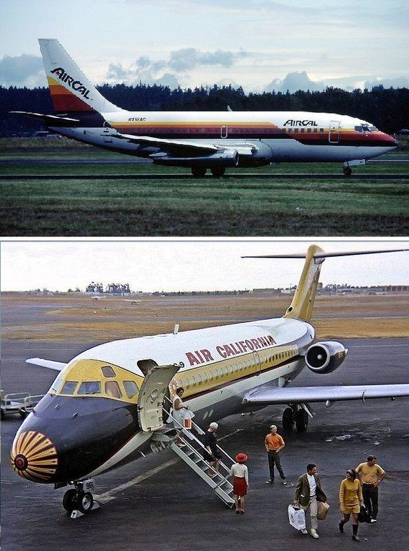 Aircal 737 And Air California Dc 9 Air California