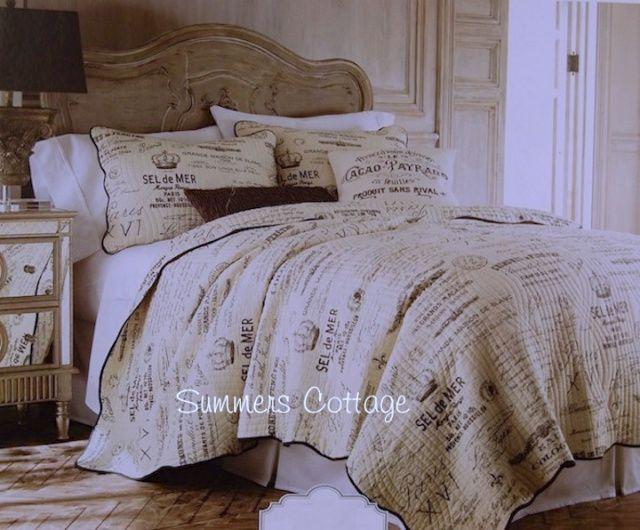 french country farmhouse script postcard vintage paris cottage rh pinterest com french country cottage bedding