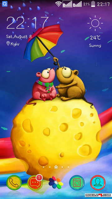 Rainbow. Tap for more Cute Cartoon Android Themes