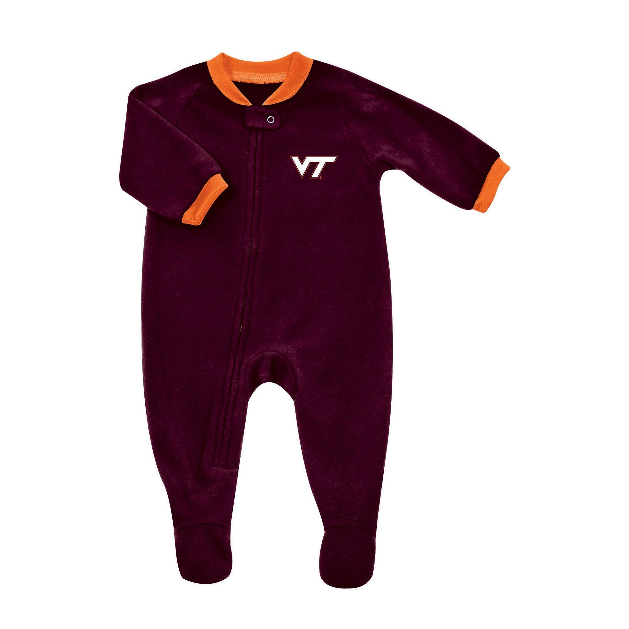 NCAA Virginia Tech Hokies Baby Snuggle Bug Sleep N Play 0 3 M
