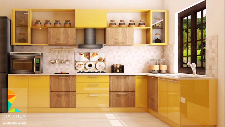 انواع المطابخ الالوميتال لوكشين ديزين نت L Shaped Modular Kitchen Latest Kitchen Designs Kitchen Cabinets Color Combination