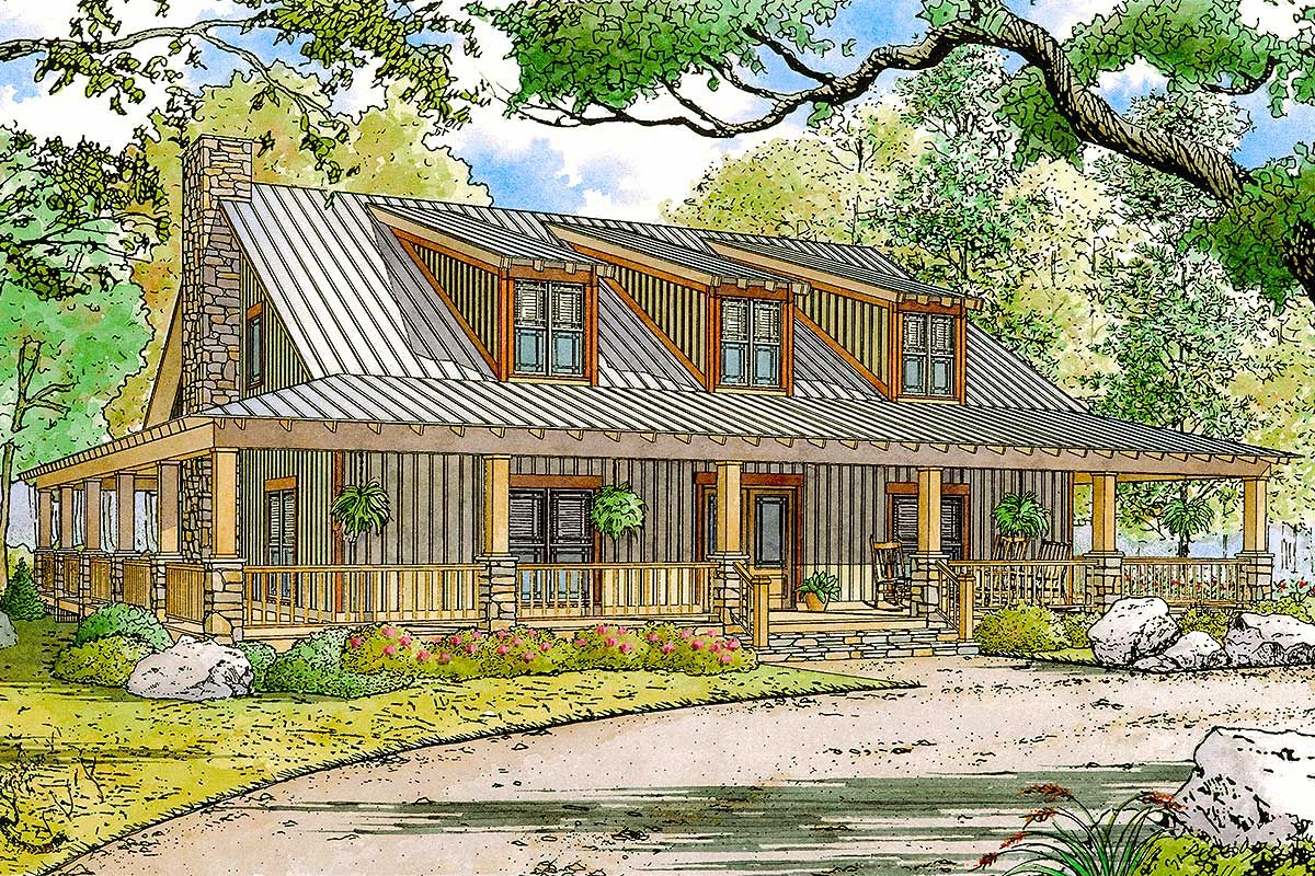 Plan 70552mk Rustic Country Home Plan With Wraparound Porch Country Style House Plans Country House Plan Country House Plans