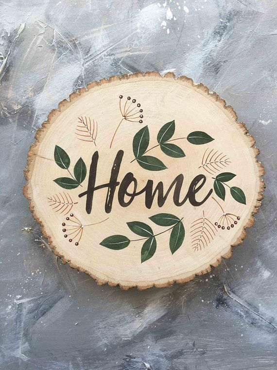 Photo of Home sign entryway decor home sweet home sign home decor wood slices wooden sign new home gift 1st anniversary gift family name sign custom