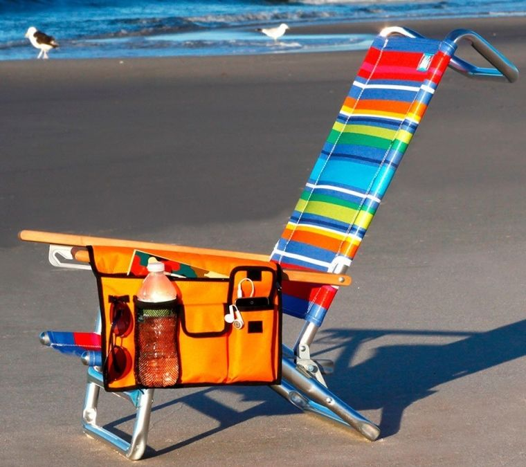 Handypockets Sline Beach Chair Organizer In Orange Color Prnewsfoto Inc