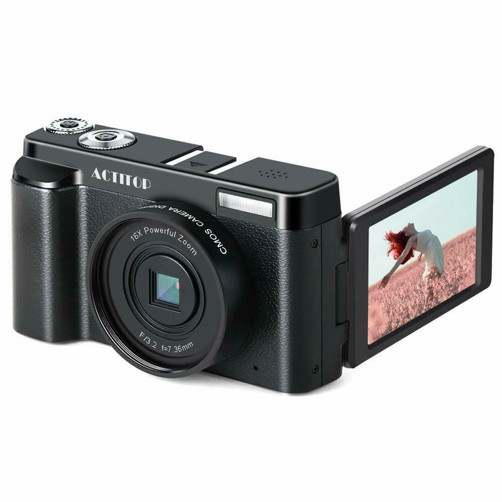 Appareil Photo Numerique Wifi Actitop Camera Full Hd 1080p 24mp Ecran 180 Appareil Photo Numerique Photos Numeriques Appareil Photo