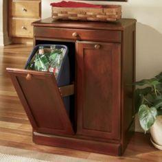 Dirty Work Double Bin Countrydoorcom For The Home Pinterest - Hide away trash bin kitchen