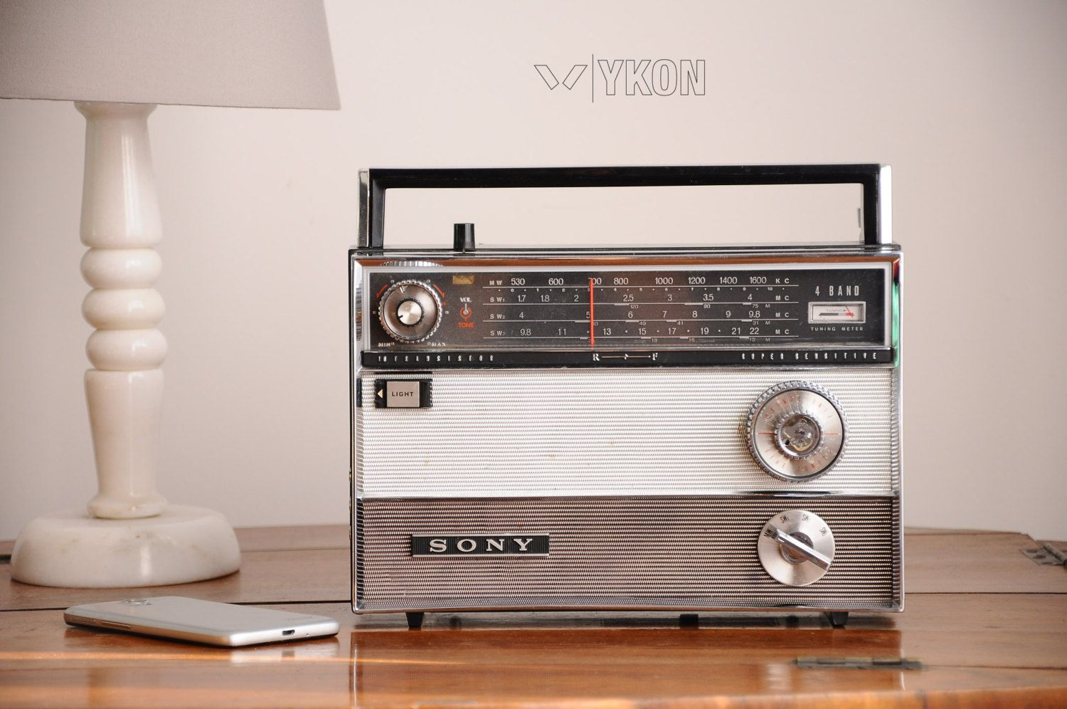 This Is An Old Sony Transistor Radio Converted To A Bluetooth Speaker With This Retro Radio Now You Can Listen Bluetooth Radio Bluetooth Speakers Retro Radios