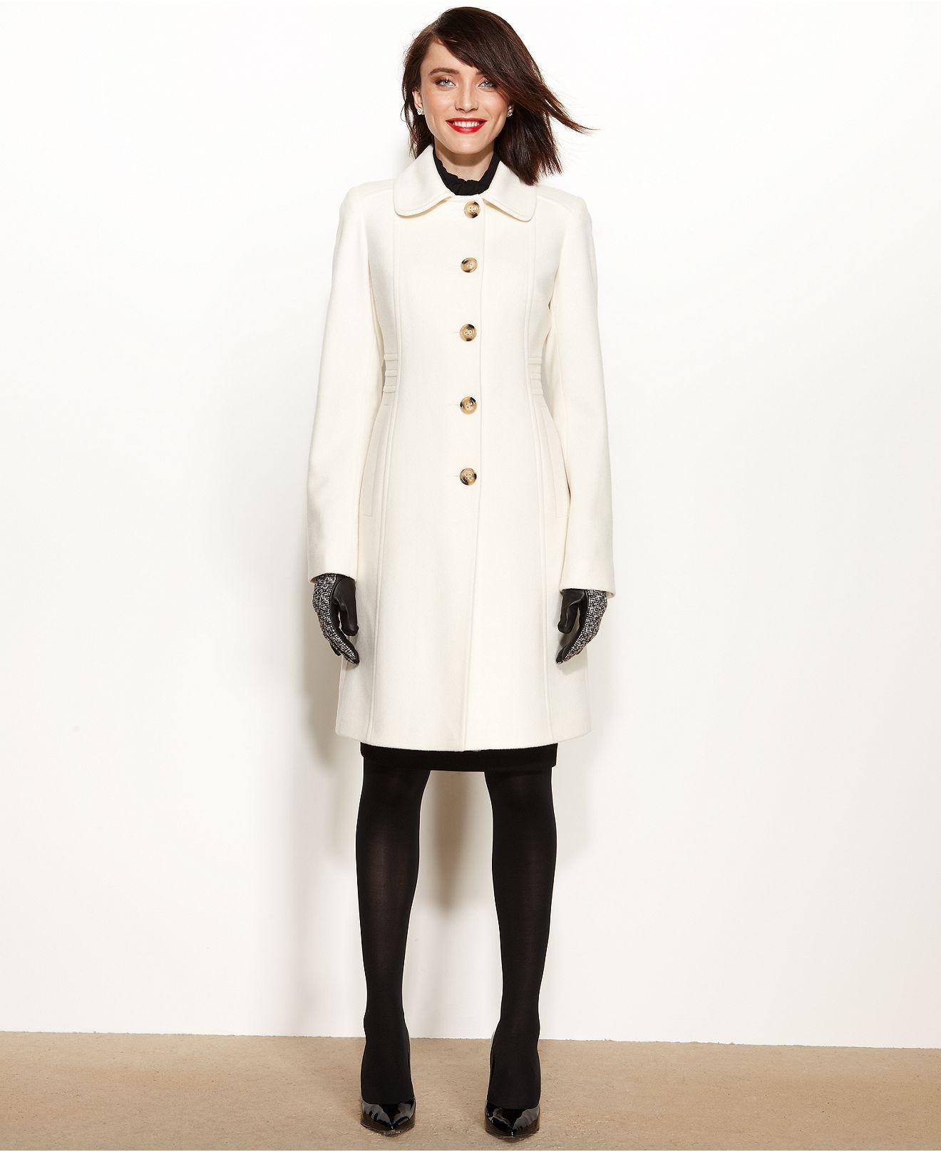 4d568144db1 Anne Klein Ivory Coat