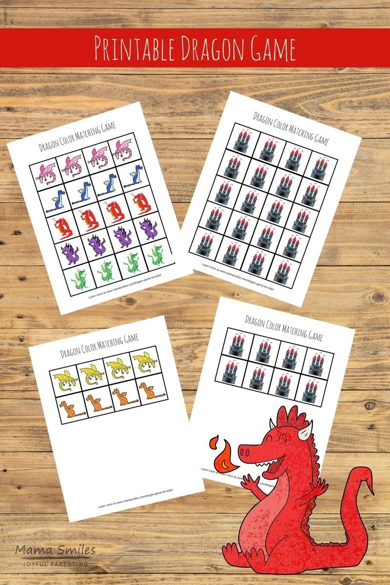 Printable Dragon Game for Kids Fun activities for kids
