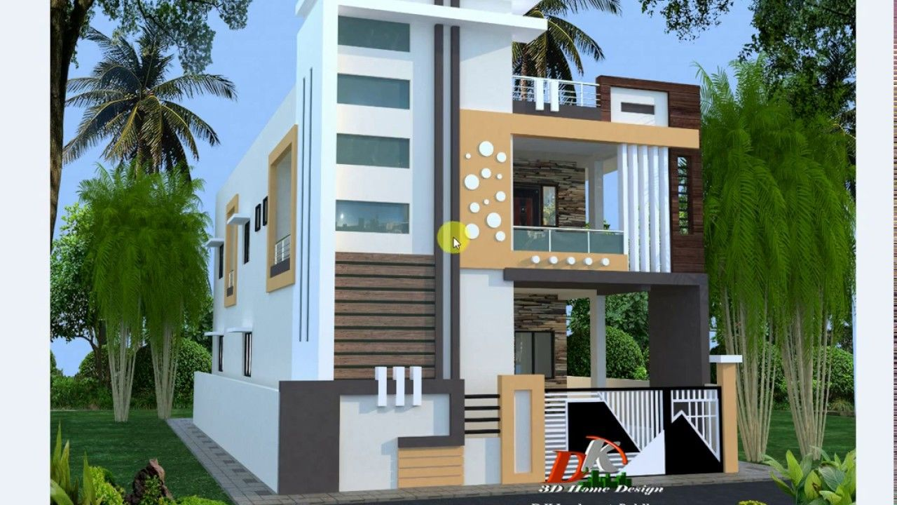 Indian Style Double Story House Plan And Design In Hindi Small House Design Exterior House Outside Design House Front Design