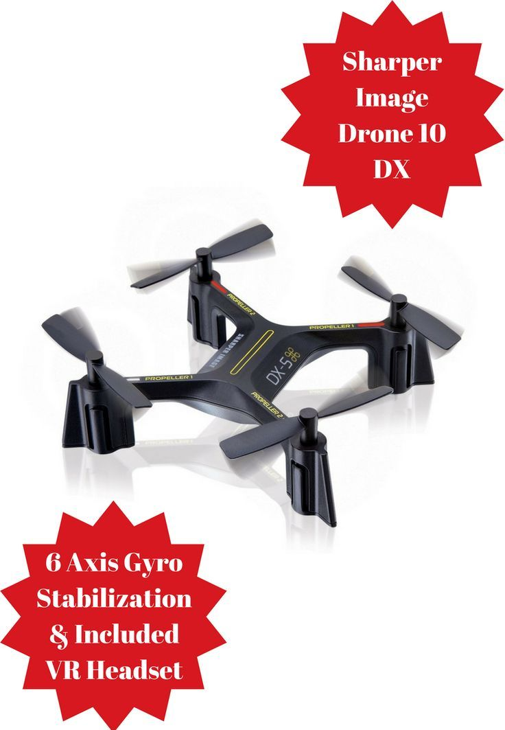 The Sharper Image Drone 10 DX On Board Camera Captures Streams Video To Your Smartphone For Viewing With Included VR Headset Panoramic Recor