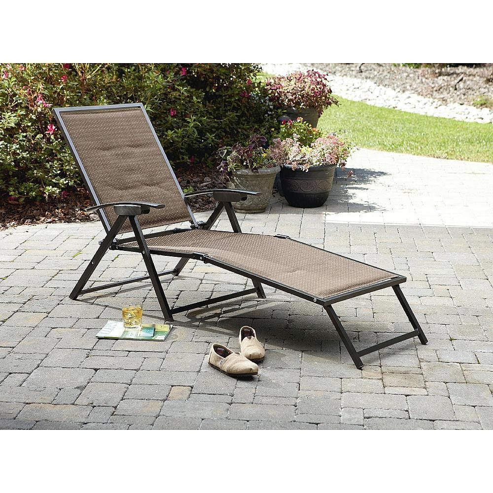 Outstanding Garden Oasis Chair Folding Padded Sling Chaise Patio Home Unemploymentrelief Wooden Chair Designs For Living Room Unemploymentrelieforg
