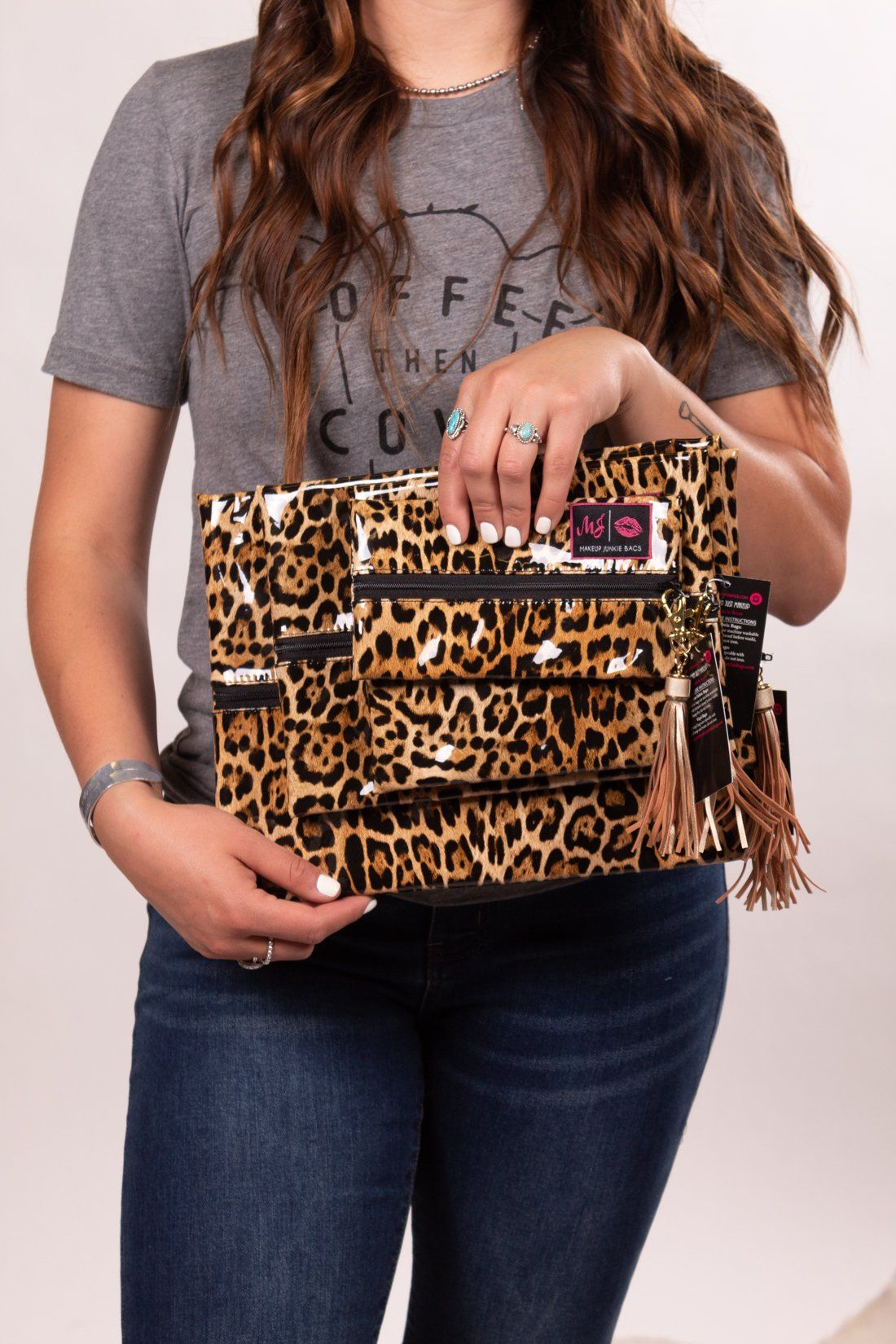 Leopard Love Make Up Junkie Taschen – Wristlet