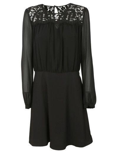 MICHAEL MICHAEL KORS MICHAEL Michael Kors Lace Inset Dress. #michaelmichaelkors #cloth #dresses