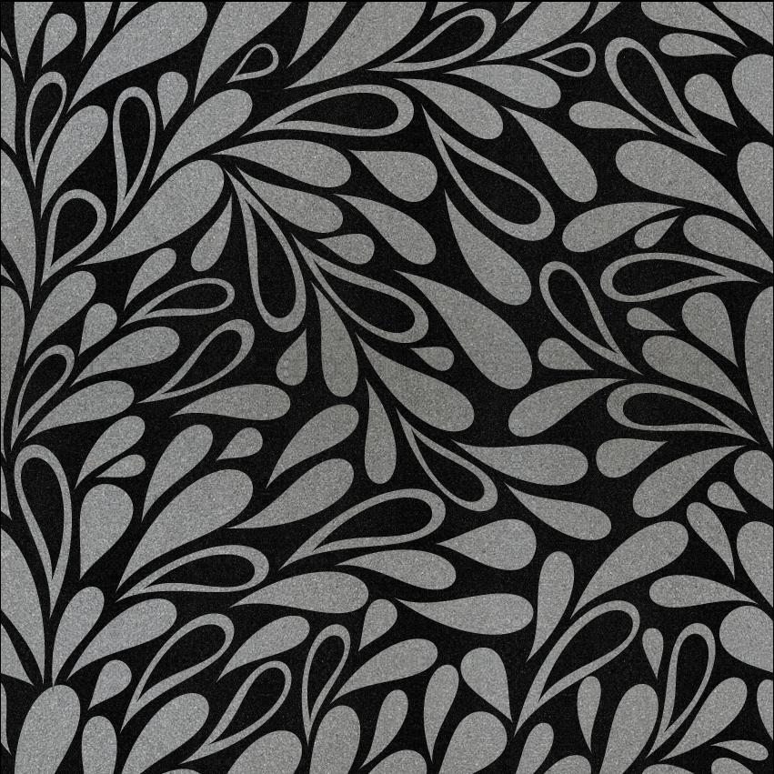 Leaves Laser Engraved Granite Tiles Astonetech Tropical Tile Black Granite Granite Colors