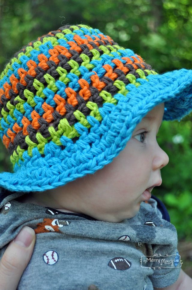 Crochet Summer Sun Hat Free Patterns For A Baby And Toddler Baby