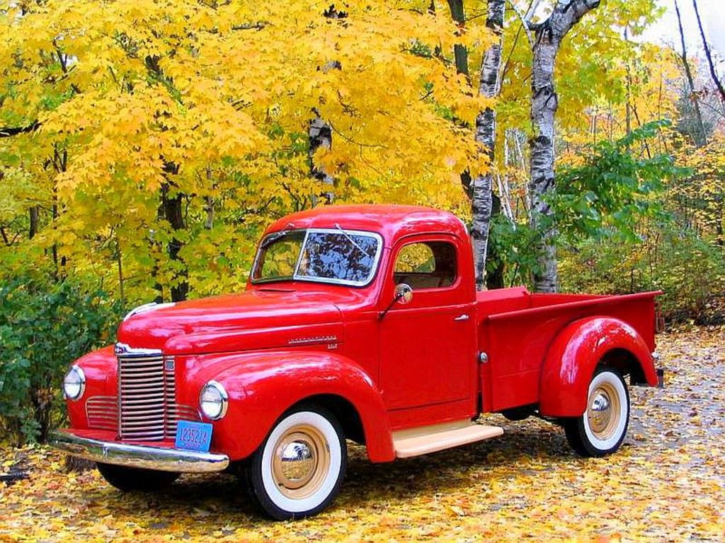 Classic Pick Up Trucks Free Old Red Truck Wallpaper Download