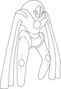 Deoxys in Defense Form Coloring page   Malvorlagen ...