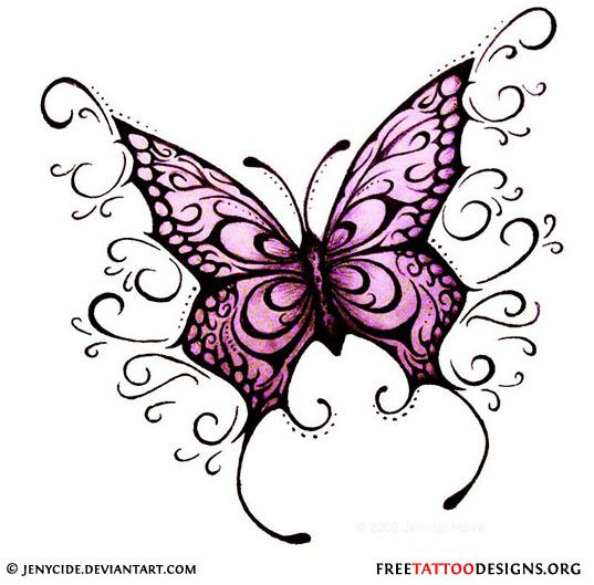 Butterfly Tattoo Designs Clipart Png - Tribal Butterfly Tattoo Png,  Transparent Png - kindpng