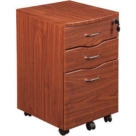 The Tribeka Rolling File Cabinet Is Made Of Mdf Panel With Pvc