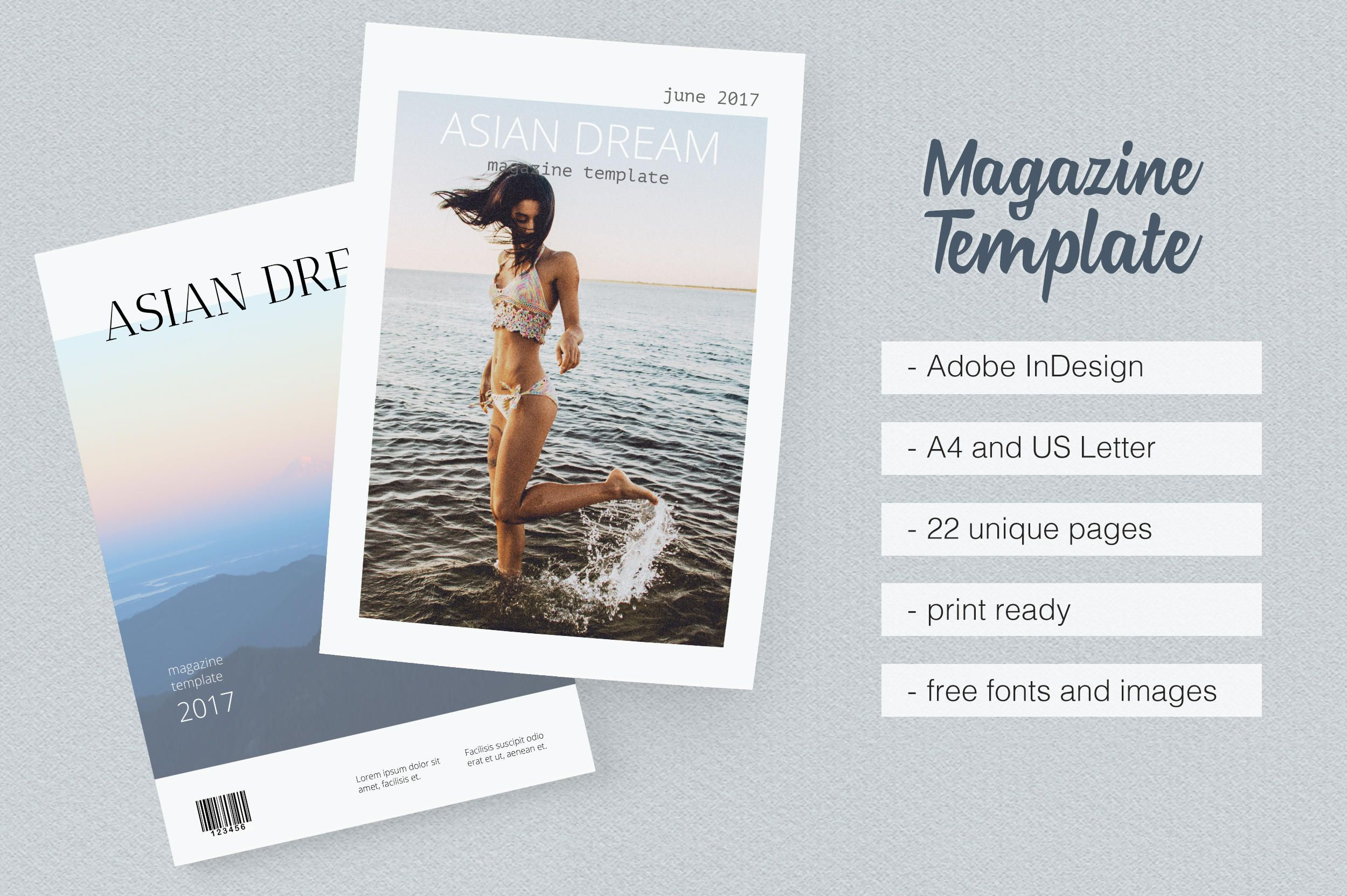 Asian Dream Magazine Template by MovingParallels on Etsy | Cool ...