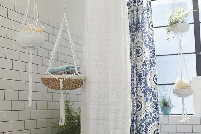 hanging basket bathroom storage for over tub Target_Emily Henderson_Bathroom_Blue White Green Eclectic Bohemian_storage baskets & hanging basket bathroom storage for over tub Target_Emily ...