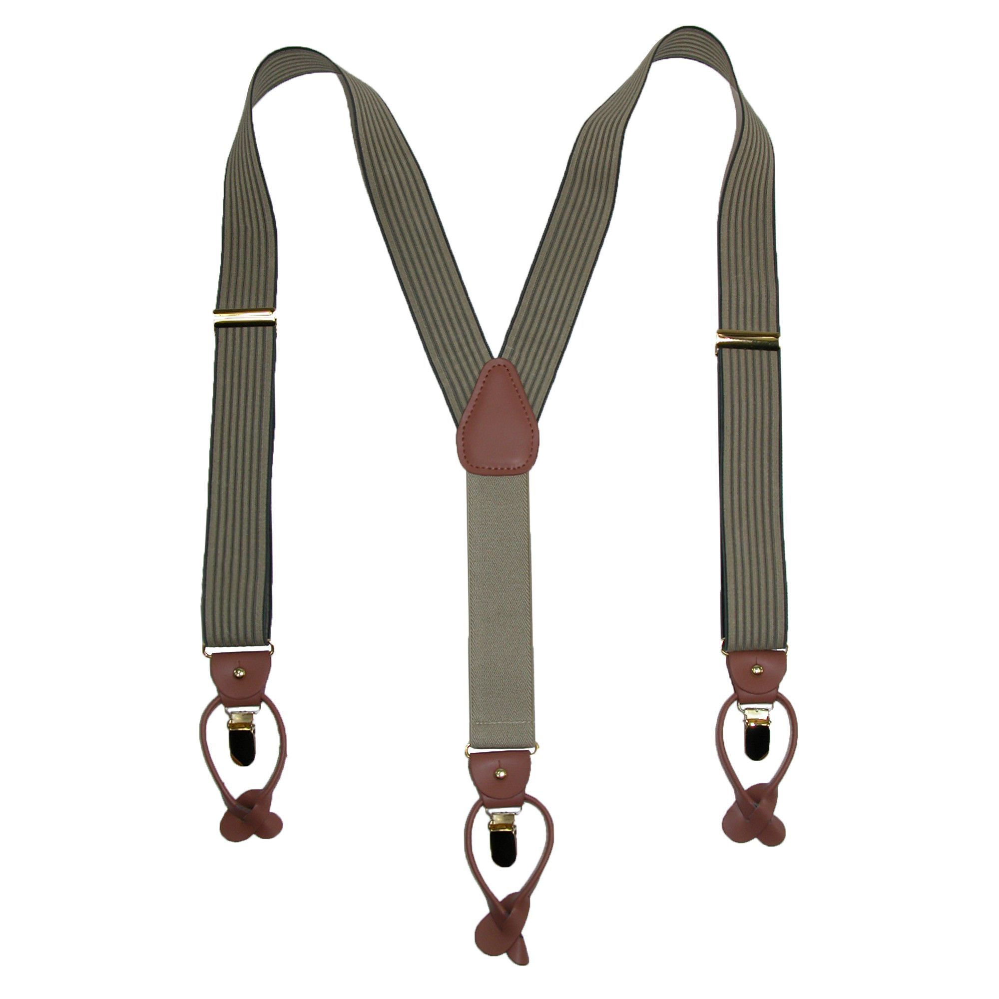 1.5 Inch Wide Brass Clip Suspenders