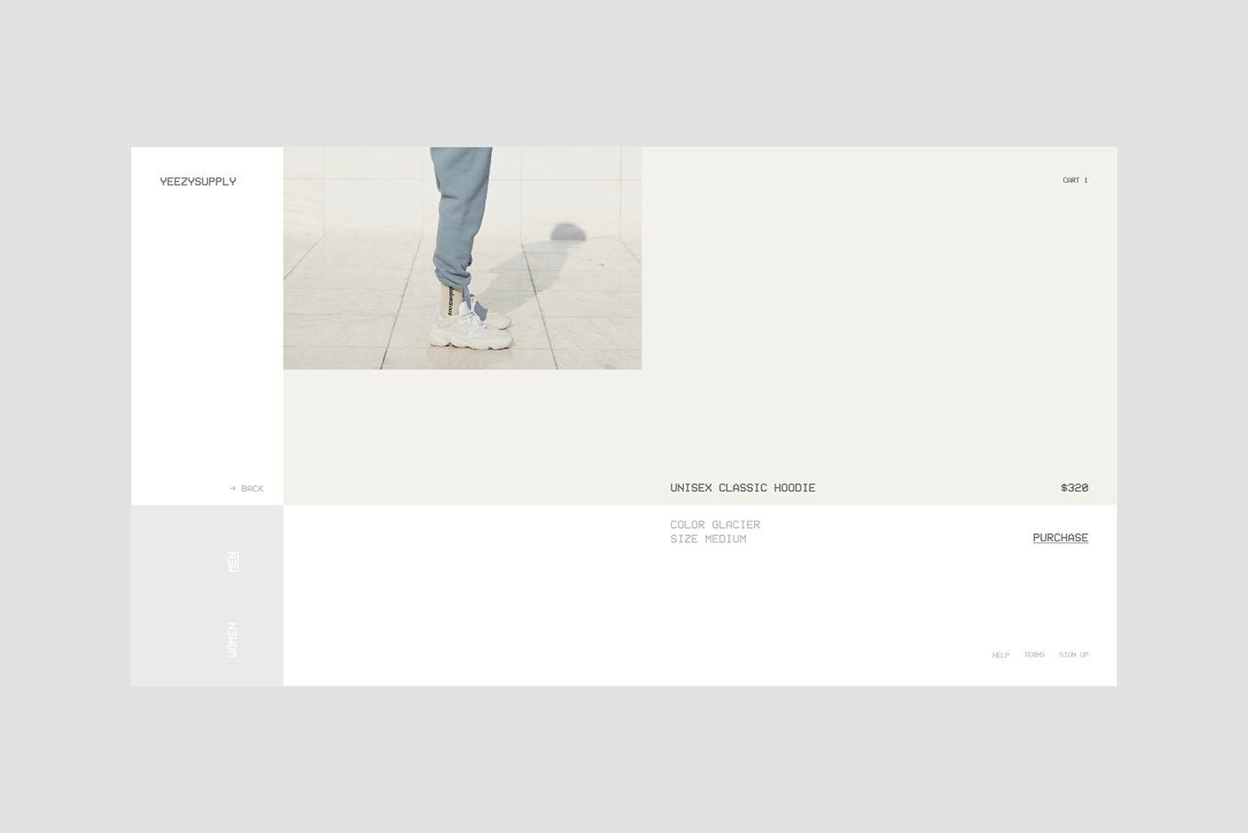 differently d2d4c 4310c Yeezy Supply - Web Design on Behance | Editorial Design ...