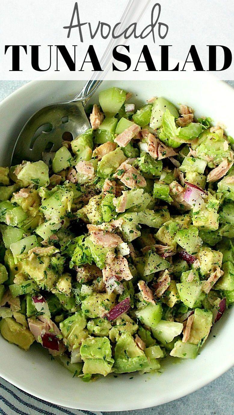 Avocado Tuna Salad Recipe Healthy And Delicious Salad Made