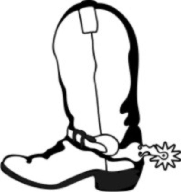 cowboy boots coloring pages free - photo#31