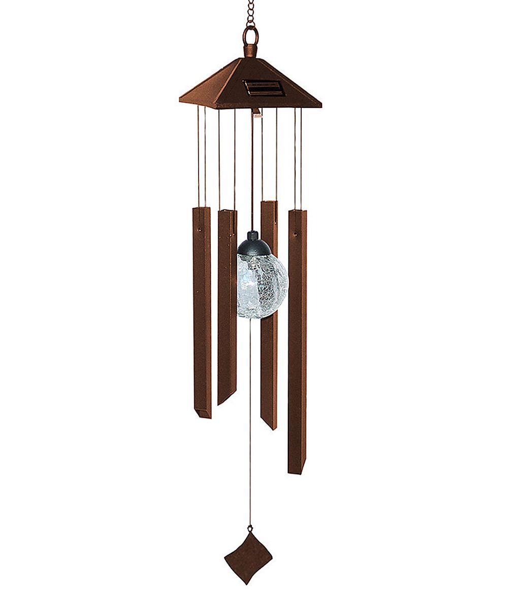 Rustic Color-Changing Solar Chime