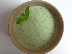 Cold Cucumber soup with fresh herbs