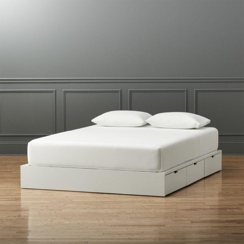 Stowaway White Queen Bed White Queen Bed Modern Bedroom