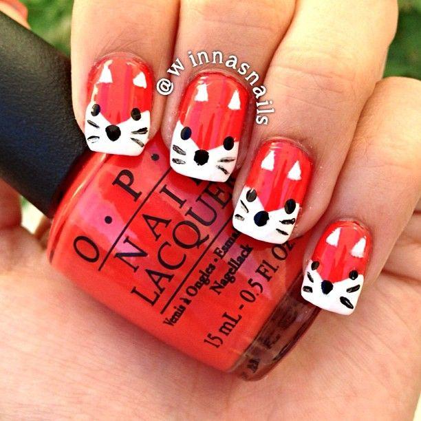 Fox Nail Designs: Nail Arts, Nails, Cute
