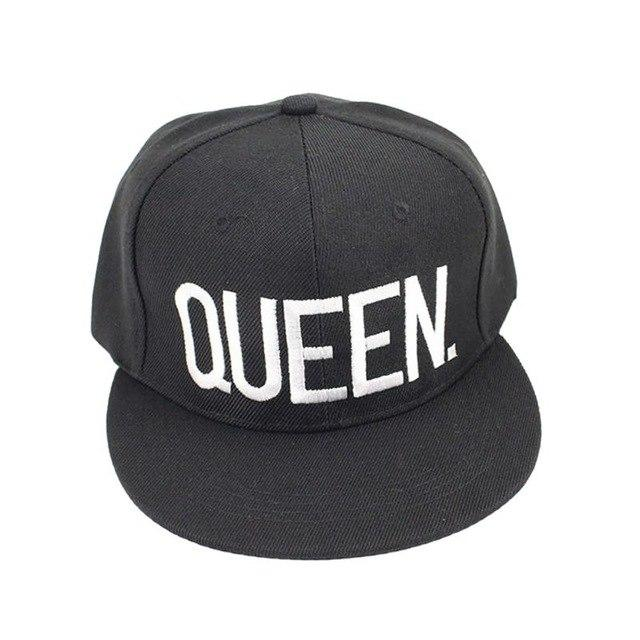 b1bf8e92b2f Summer Couple Baseball Cap KING QUEEN Letters Embroidery Snapback Hat  Acrylic Men Women Gifts Hip-