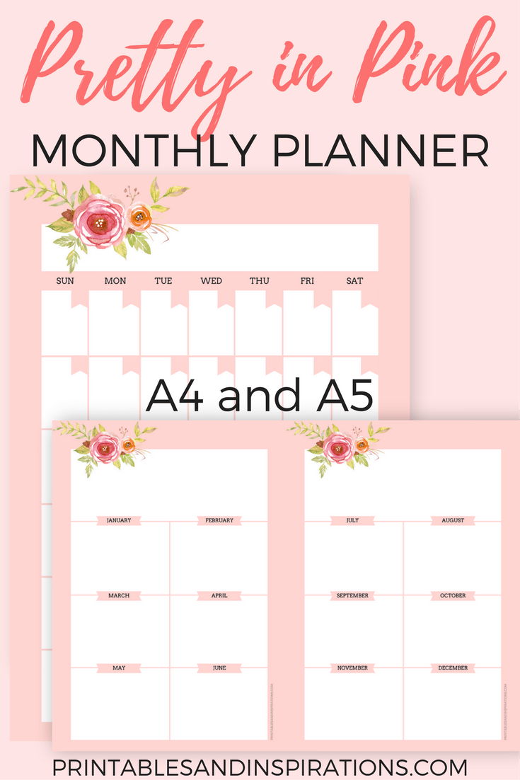 Free Printable Pink Planner Pages For Any Year Printables And Inspirations Pink Planner Planner Printables Free Planner Pages
