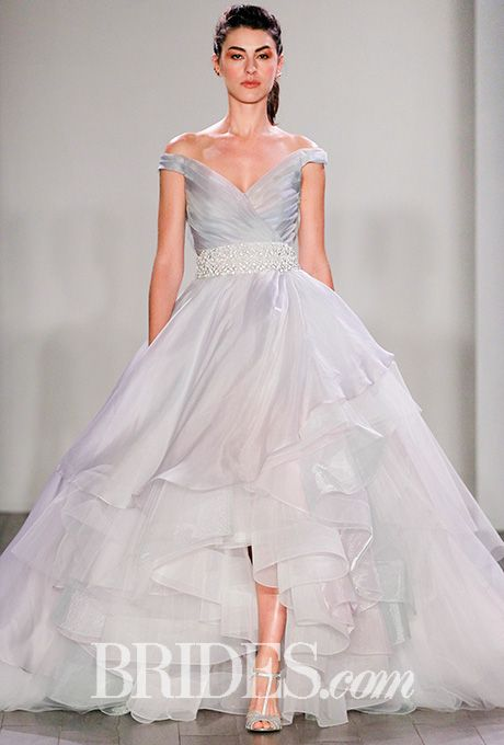 Lazaro fall 2016 organza wedding dresses for Silk organza wedding dress