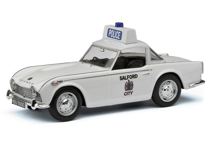 Triumph TR4 A Diecast Model Car by Vanguards VA11507 This Triumph TR4 A Diecast Model Car is White and features working wheels. It is made by Vanguards and is 1:43 scale (approx. 8cm / 3.1in long). #Vanguards #ModelCar #Triumph