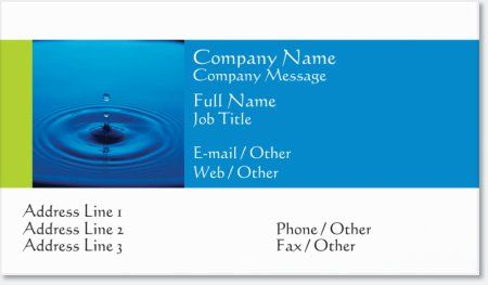 Blue water standard business cards nature blue standard business blue water standard business cards nature blue standard business cards vistaprint reheart Images
