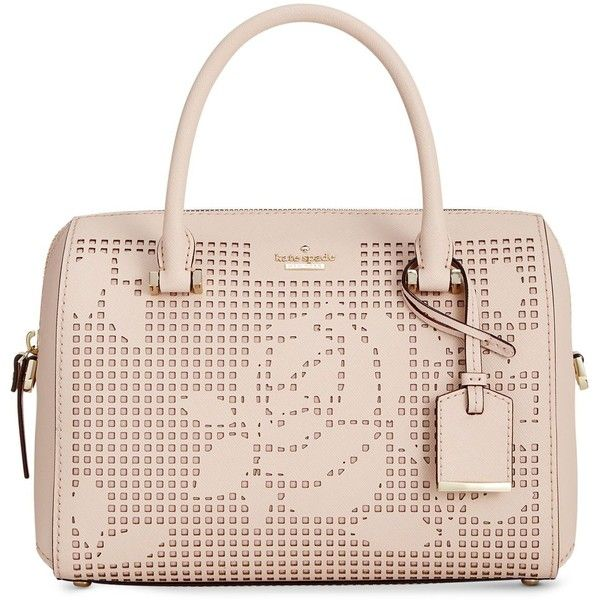 dde9f7cb6dbf3c kate spade new york Cameron Street Perforated Lane Large Satchel ($298) ❤  liked on