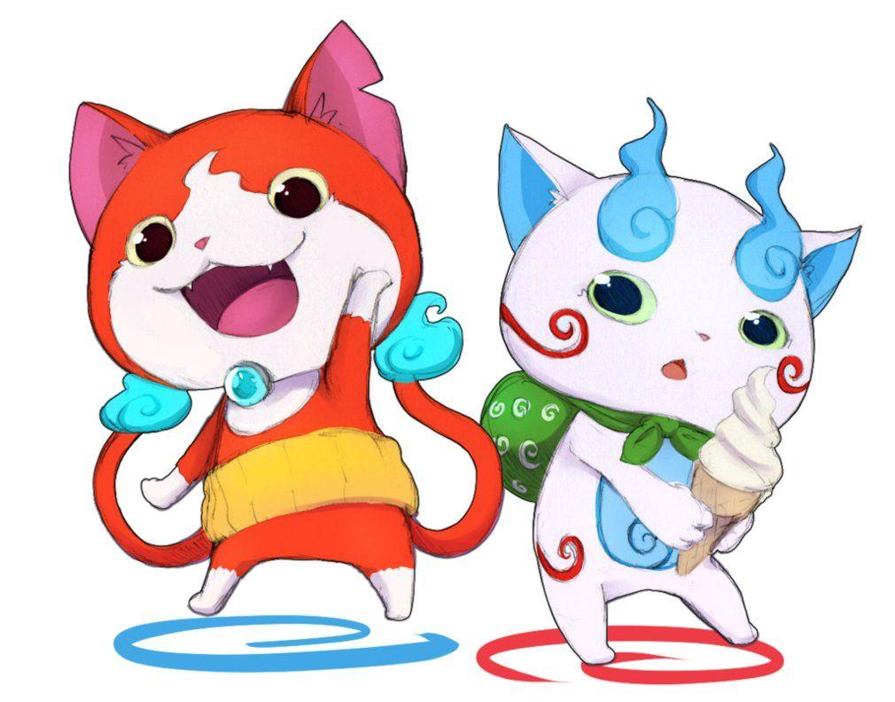 Jibanyan And Komasan By Yasahiroyoruki Character Design Kai Yo Kai Watch 2